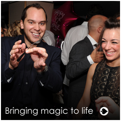 corporate event entertainer Nick Crown has been working his magic for 10 years all around London. Catch him at his very best with his wonderful close up table magic